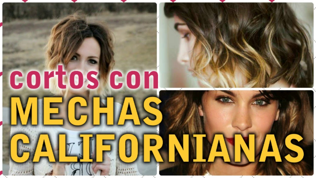 Mechas californianas en pelo medio corto