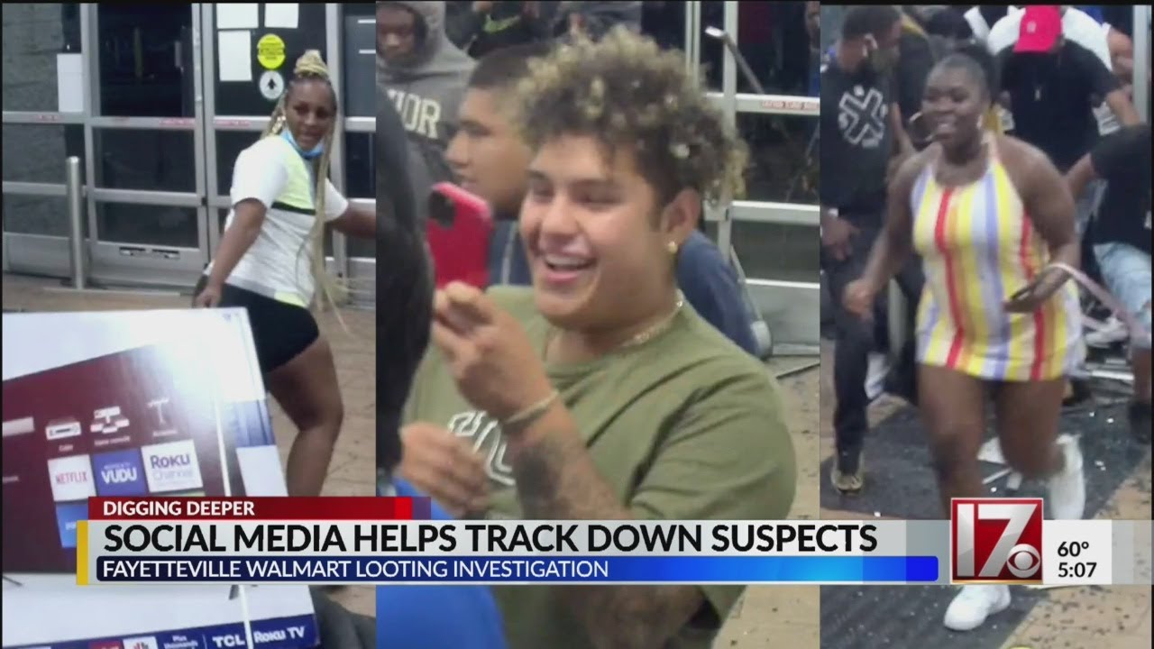 Social media helps track down suspects in Fayetteville Walmart looting