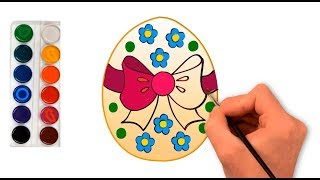 How to draw a beautiful Easter egg, draw an Easter egg to Easter