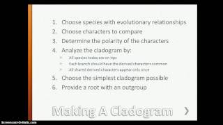 Cladistics 1