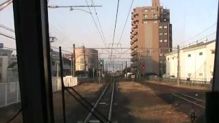 桜井・和歌山線 奈良→高田→王寺 前面展望(等速)