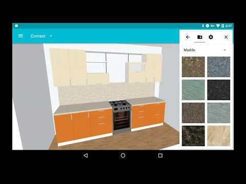 Kitchen 3D: default colors configuration