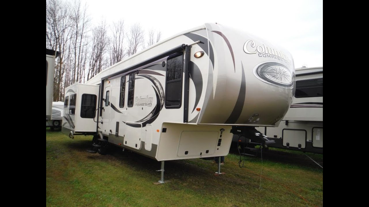 2016 Columbus Compass Series 377MB Luxury 2 Bedroom 5th Wheel Trailer @  Camp Out RV In Stratford   YouTube