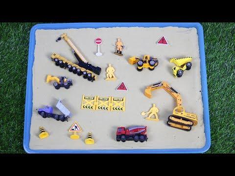 เรียนรู้สีอนุบาล เสริมพัฒนาการเด็ก รู้จักรถก่อสร้าง ของเล่นจิ๋ว ของเล่นรถก่อสร้าง