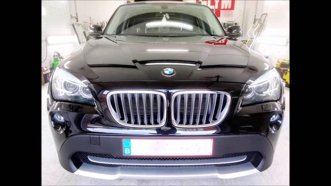 BMW X1 Black  Total Car Care bvba  YouTube