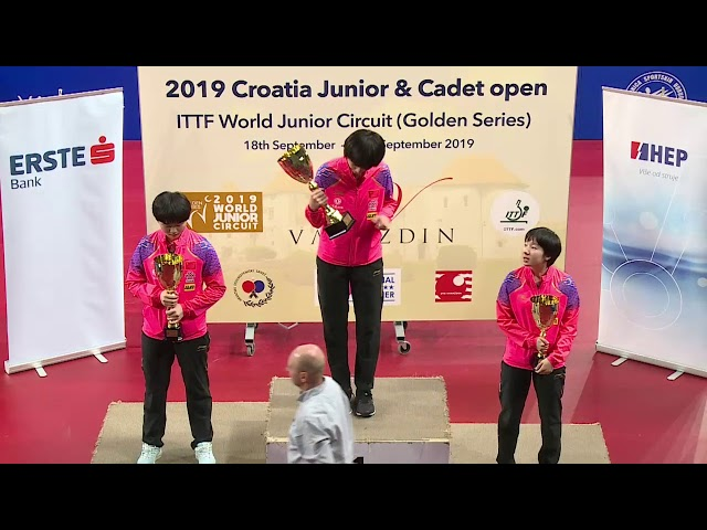 2019 ITTF Junior Circuit Golden, Croatia Junior & Cadet Open - Day 5 (Session 2)