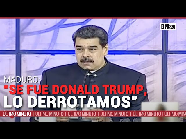 """Nicolás Maduro: """"Se fue Donald Trump, lo derrotamos"""""""