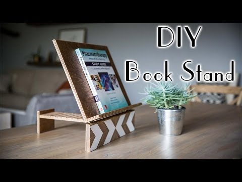 diy geometric book stand youtube. Black Bedroom Furniture Sets. Home Design Ideas