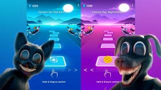 Cartoon Cat vs Cartoon Dog  Tiles Hop