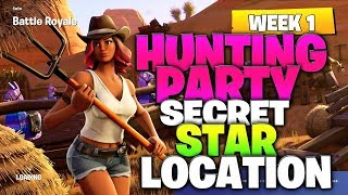 "Fortnite Battle Royale Season 6 Week 1 Secret Battlestar Location (""Hunting Party"" Challenges)"
