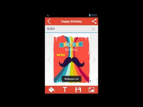 [Android Apps] - Name on Birthday Cake - Happy Birthday to You