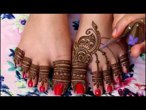 New Mehndi Design for Legs 2018|Foot Mehndi Design 2018 thumbnail