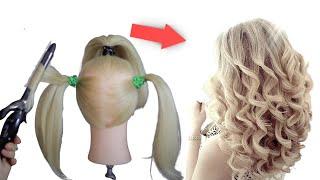 Новый способ быстрые кудри на длинные волосы Прически своими руками Ева Лорман