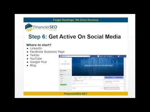 Financial Advisors Social Media Strategy - Financier SEO Call us (713) 857-8403
