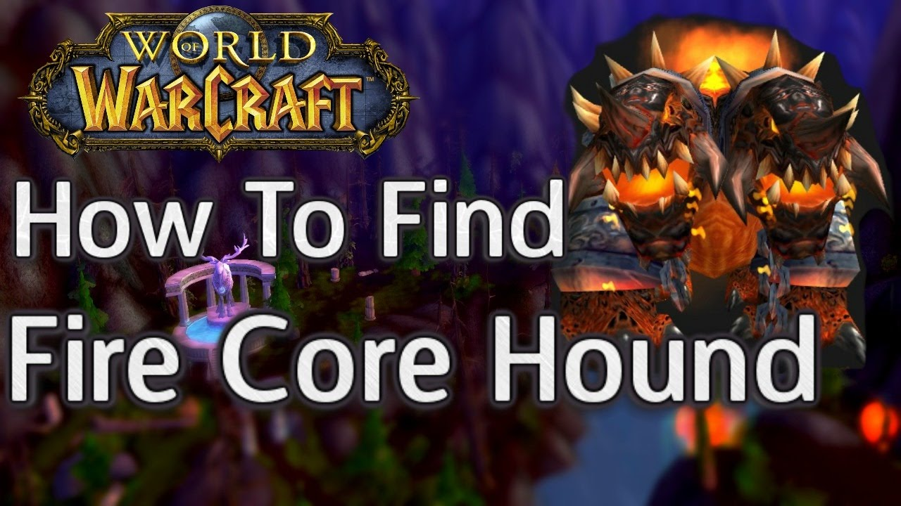 How To Find And Tame Fire Red Core Hound Exotic Pet Hunter Horde World Of Warcraft Youtube