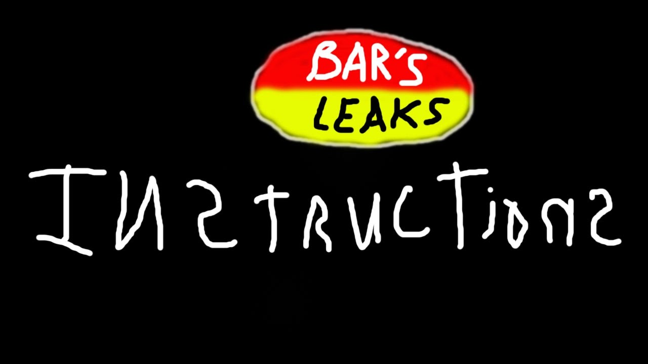 Bar's leaks instructions - step by step