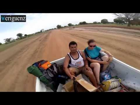 hitchhiking in Africa Middle of senegal