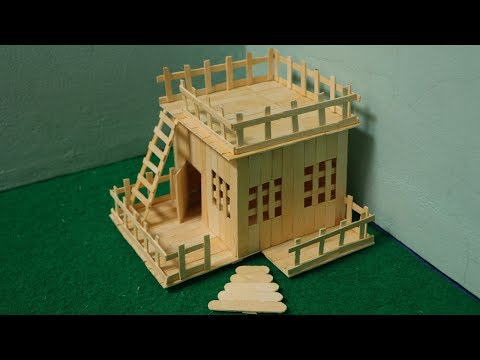 How to make house using ice cream stick | Popsicle stick house lollipop