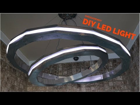 Modern DIY LED Rings Pendant Light