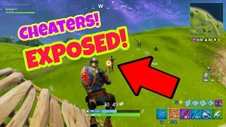 CHEATERS EXPOSED in Fortnite Battle Royale