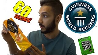 Most crackers eaten in a minute | Guiness world records