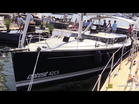 2017 Contest 42 CS Sailing Yacht - Deck and Interior Walkaround - 2017 Annapolis Sail Boat Show