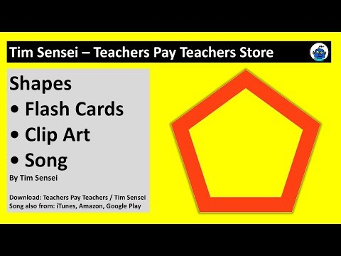 English Shapes Flash Cards, Clip Art and Song for Teachers
