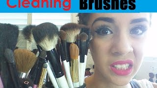 Cleaning Makeup Brushes Tutorial DIY Thumbnail