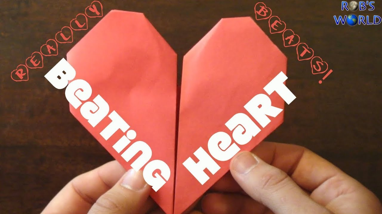 How To Make An Origami Beating Heart Youtube