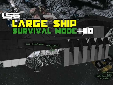 Space Engineers - Large Ship Under Construction - Part 20
