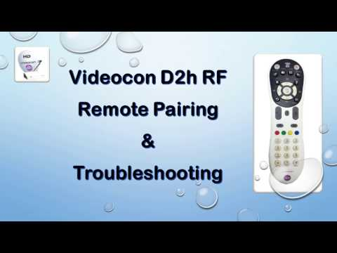 how to pair your videocon d2h RF remote