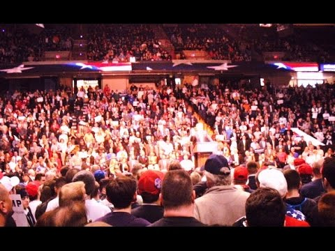 DEEP INSIDE A TRUMP RALLY | THE REAL DEAL |  NO LIES  |  Albany, New York -April 11, 2016
