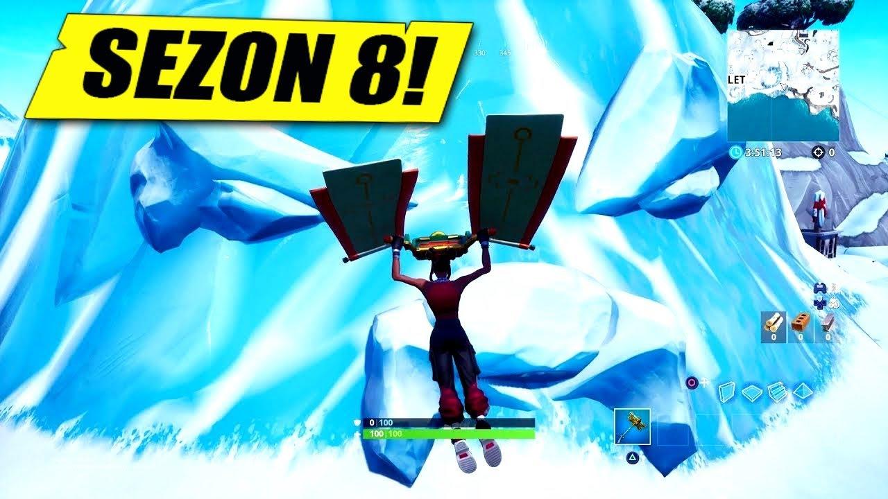 Odwiedź Wielką Twarz Na śniegu 33 Wyzwania Fortnite Sezon 8
