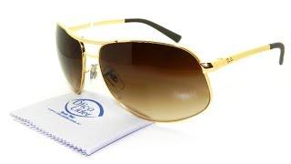 Veja cada detalhe do Óculos de Sol Ray-Ban RB 3387l 001 13 67 Aviador Metal Dourado  Marrom Degradê Para mais informações acesse . c21e77b133