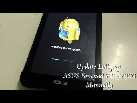 How to update ASUS Fonepad 7 to Lollipop