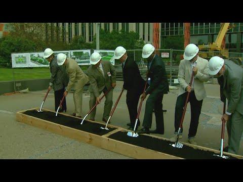 City-County Building plaza construction underway