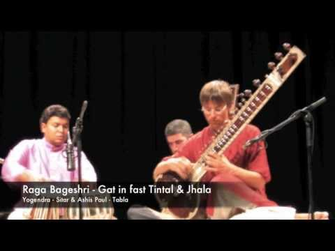 Raga Bageshri 3/3 - Gat in fast Tintal & Jhala: Yogendra (Sitar) & Ashis Paul (Tabla)