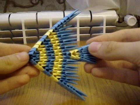 3d Origami Fish Tutorial Youtube