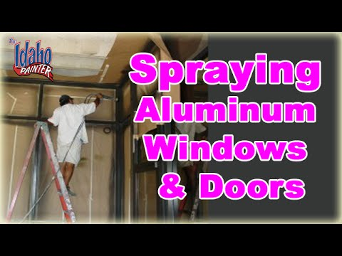 Painting Aluminum Windows Amp Doors Spraying Metal Windows