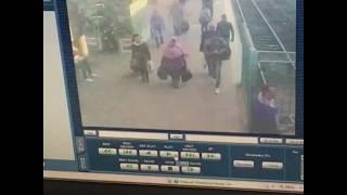 اللحظة الأولى لانفجار قطار داخل محطة مصر
