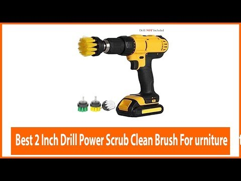 2 Inch Drill Power Scrub Clean Brush for Leather Plastic Wooden Furniture Car interiors Cleaning