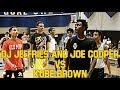 KOBE BROWN SMOOTH COMBO GUARD VS  DJ JEFFRIES AND JOE COOPER