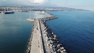 Catania city from above / Sicily from drone / Panoramic video over Catania