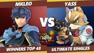UFA 2019 SSBU - FOX   MkLeo (Marth) Vs ESM   Yass (Fox) Smash Ultimate Tournament Winner Round of 48