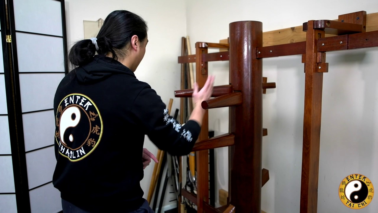 Wing Chun Muk Jong (Wooden Dummy) | Sticking Through The Slipping Technique  | Wing Chun Training