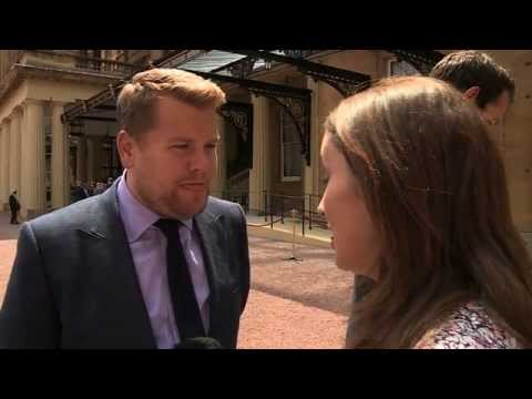 James Corden receives OBE at Buckingham Palace