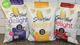 Smartfood Delight Popcorn Review: Sea Salt Caramel, White Cheddar and Sweet & Spicy BBQ