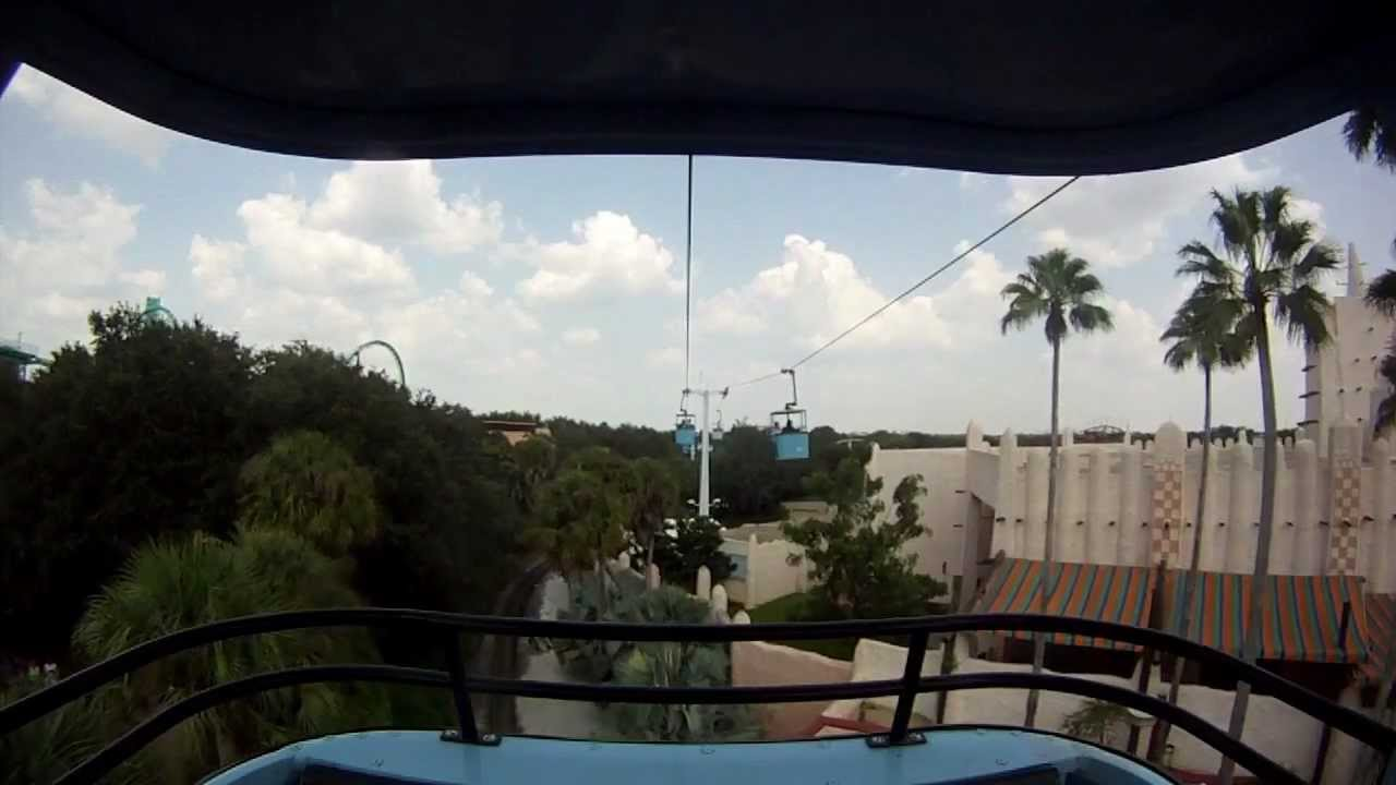 On Ride Video Skyride Busch Gardens Tampa Youtube
