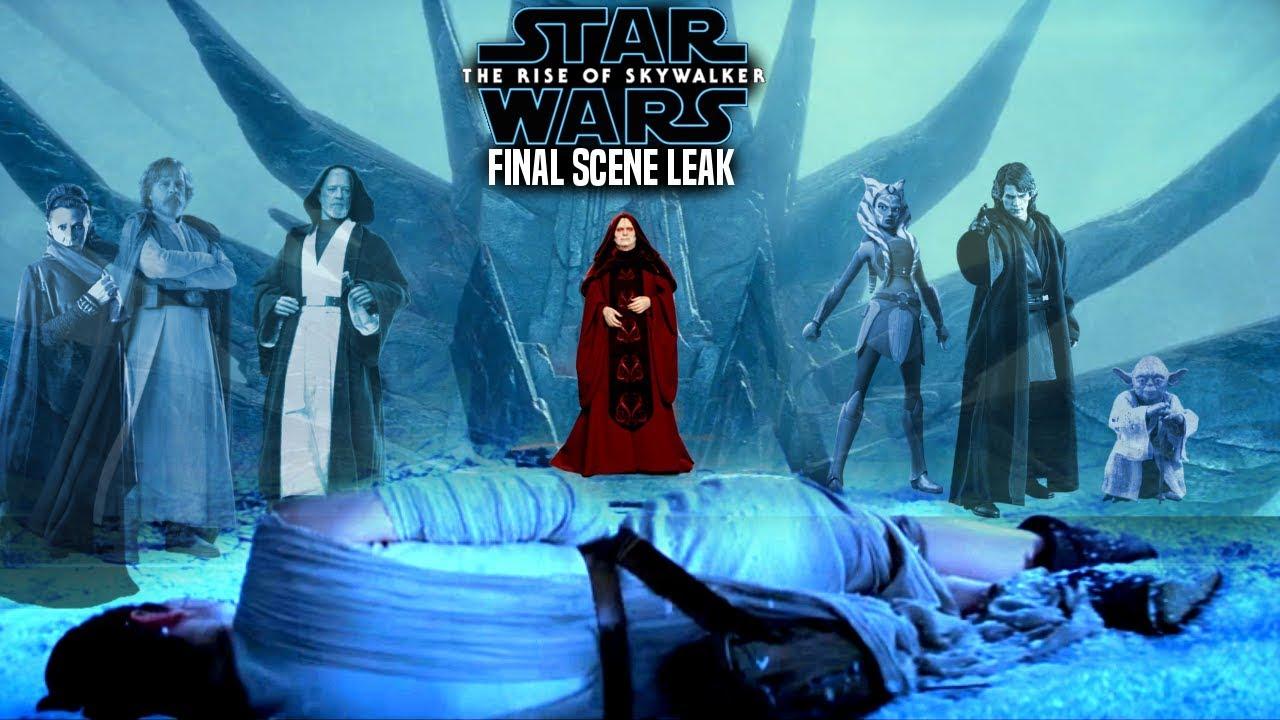 The Rise Of Skywalker Final Scene Full Leak Revealed Explained Star Wars Episode 9 Youtube
