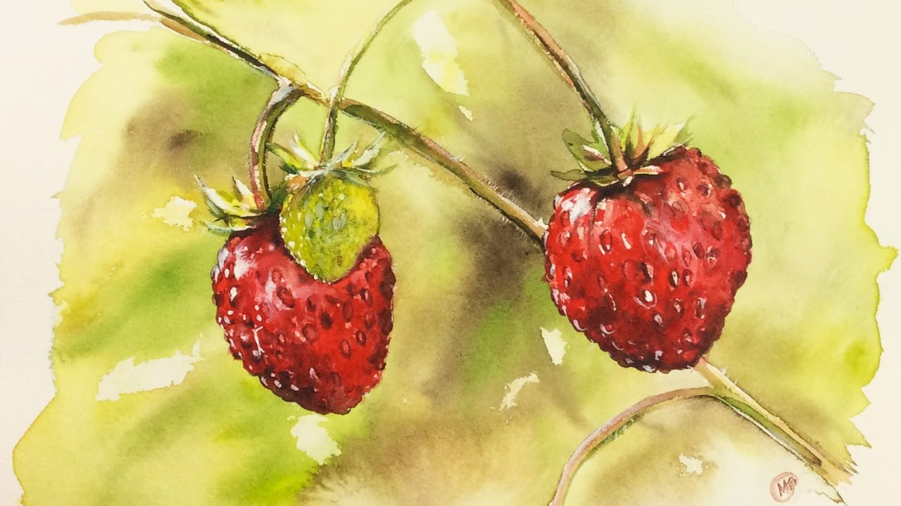 Strawberry Picture Painting